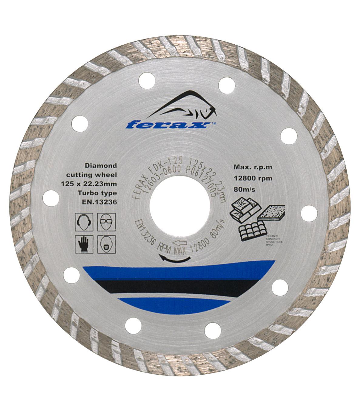 hormig/ón Disco de diamante SEDION /® 125 mm x M14 gres porcel/ánico Sedion galv/ánica disco de corte y disco de desbaste para baldosas duras etc granito - disco de corte de diamante 125 gres