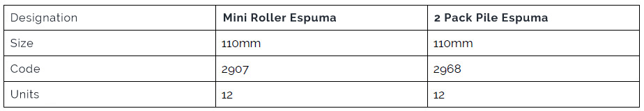 Mini Roller Espuma